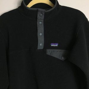 Patagonia Synchilla Snap-T Pullover Womens XS Black Grey